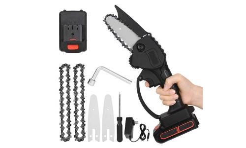 EKUPUZ 4-Inch Mini Chainsaw
